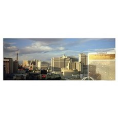 High angle view of buildings in a city, The Strip, Poster
