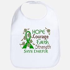 Hope Courage Faith Darfur Shirts Bib