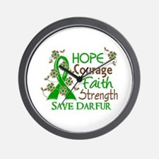 Hope Courage Faith Darfur Shirts Wall Clock