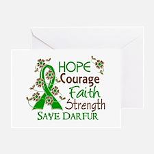 Hope Courage Faith Darfur Shirts Greeting Card