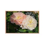 Mama's Two Beautiful Roses Rectangle Magnet (10 pa