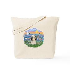 SunriseLilies-ShihTzu#3 Tote Bag