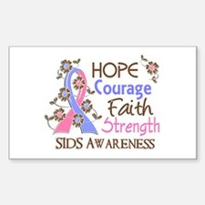 Hope Courage Faith SIDS Shirts Sticker (Rectangle)