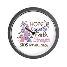 Hope Courage Faith SIDS Shirts Wall Clock