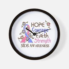 Hope Courage Faith SIDS Shirts Wall Clock