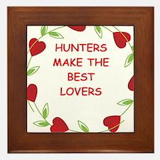 hunters Framed Tile