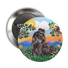 "BrightLife-Blk Shih Tzu 2.25"" Button (100 pack)"
