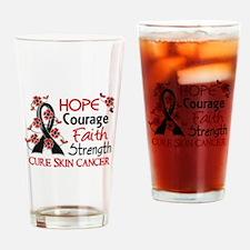 Hope Courage Faith Skin Cancer Shirts Drinking Gla