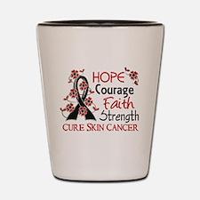 Hope Courage Faith Skin Cancer Shirts Shot Glass