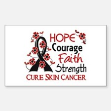 Hope Courage Faith Skin Cancer Shirts Decal