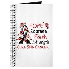 Hope Courage Faith Skin Cancer Shirts Journal