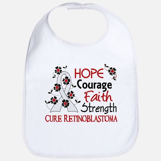 Hope Courage Faith Retinoblastoma Shirts Bib