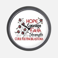 Hope Courage Faith Retinoblastoma Shirts Wall Cloc