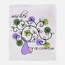 Wishes Do Come True Throw Blanket
