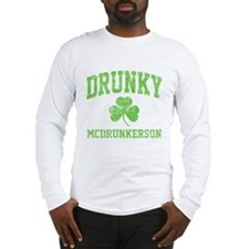 Drunky -green Long Sleeve T-Shirt