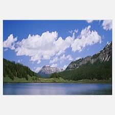 Clouds over mountains, Del Norte County, Californi