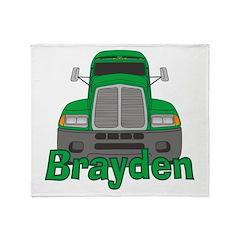 Trucker Brayden Throw Blanket