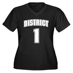 District 1 Design 6 Women's Plus Size V-Neck Dark