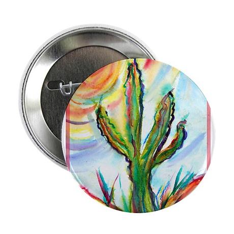 "Saguaro Cactus, art 2.25"" Button"
