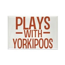 PLAYS Yorkipoos Rectangle Magnet