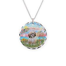 AngelStar-ShihTzu#13 Necklace Circle Charm