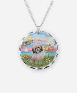 AngelStar-ShihTzu#13 Necklace Circle Charm