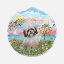 AngelStar-ShihTzu#13 Ornament (Round)