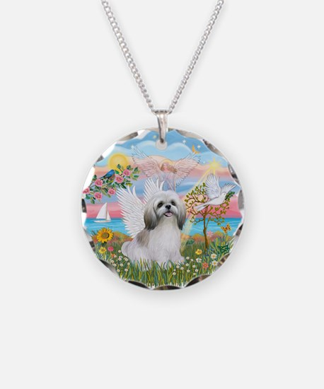 AngelStar-ShihTzu#23 Necklace Circle Charm