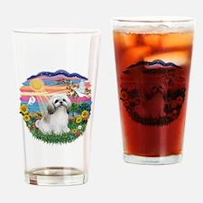 AutumnSun-ShihTzu#23 Drinking Glass