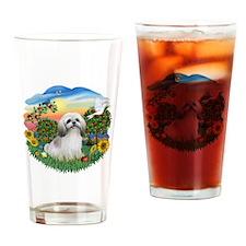 Bright Country-ShihTzu#23 Drinking Glass