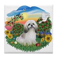 Bright Country-ShihTzu#23 Tile Coaster