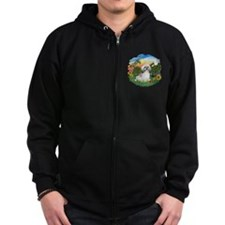 Bright Country-ShihTzu#23 Zip Hoodie