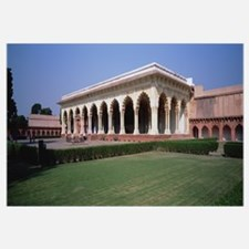 Lawn in front a fort, Agra Fort, Agra, Uttar Prade