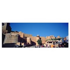 Low angle view of a fort, Golden Fort, Jaisalmer, Poster