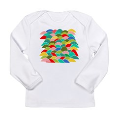 Colorful Fish Scale Pattern Long Sleeve Infant T-S