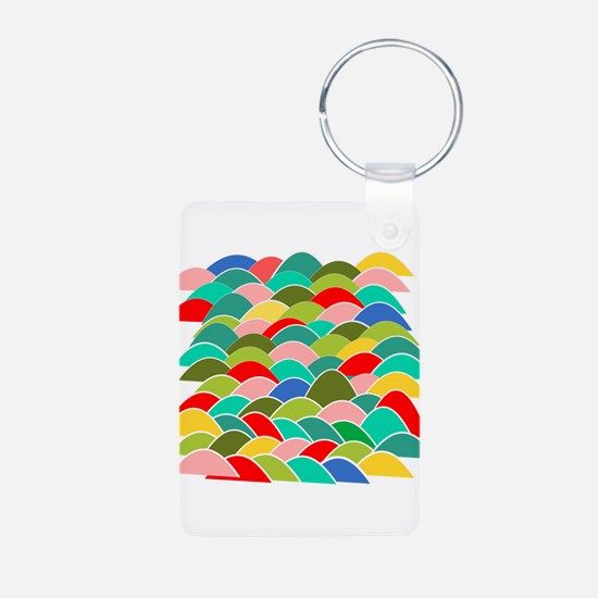 Colorful Fish Scale Pattern Keychains