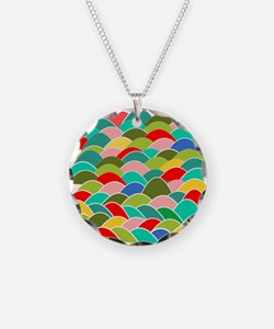 Colorful Fish Scale Pattern Necklace
