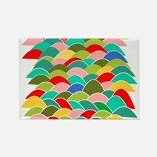Colorful Fish Scale Pattern Rectangle Magnet