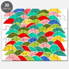 Colorful Fish Scale Pattern Puzzle