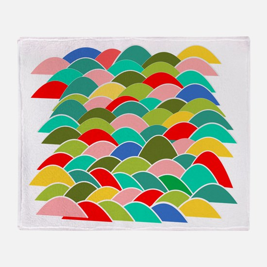 Colorful Fish Scale Pattern Throw Blanket