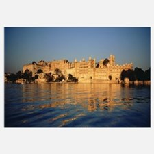 Buildings on the waterfront, Udaipur, Rajasthan, I