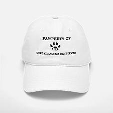 Pawperty: Curly-Coated Retrie Baseball Baseball Cap