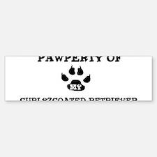 Pawperty: Curly-Coated Retrie Bumper Bumper Bumper Sticker