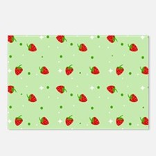 Strawberry pattern Postcards (Package of 8)