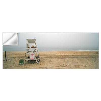 Lifeguard chair on the beach, Montauk, New York St Wall Decal
