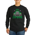 Trucker Brent Long Sleeve Dark T-Shirt