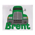 Trucker Brent Throw Blanket