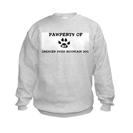 Pawperty: Greater Swiss Mount Kids Sweatshirt