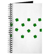 Lucky Irish Four Leafed Clove Journal