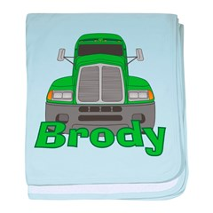 Trucker Brody baby blanket